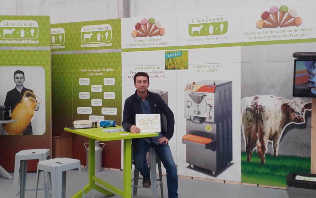 Glace-Concept médaillé d'or au sommet de l'élevage 2019 à Clermont-Ferrand